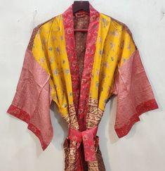 Kimono Dress, Silk Kimono, Indian Silk Sarees, Bridesmaid Robes, Picture Sizes, Dance Costumes, Pure Silk, Silk Fabric, Sari