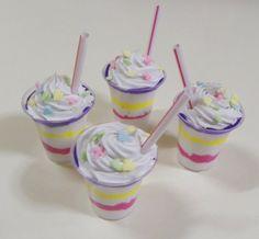 """American Girl Easter Sundae - 18"""" doll food, ice cream, shake, Easter sprinkles on Etsy, $3.75"""