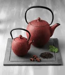 tea set slate plate