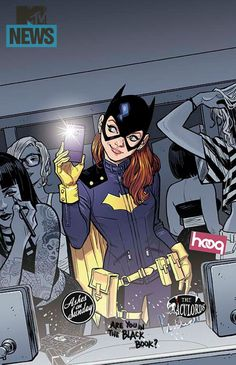 Batgirl #35 - Cover. Love her new outfit design! So much more practical. But they need to change her mask. How can no one recognize her? It's almost as bad as Superman's.