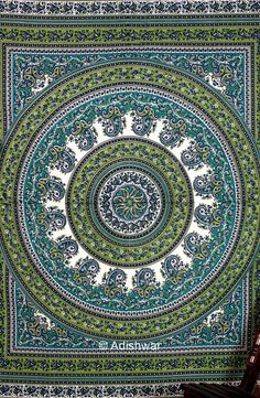 Mandala Tapestry , Indian Hippie Wall Hanging , Bohemian Twin Wall Hanging, Bedspread Beach Coverlet throw Decor Art    This gorgeous piece of art