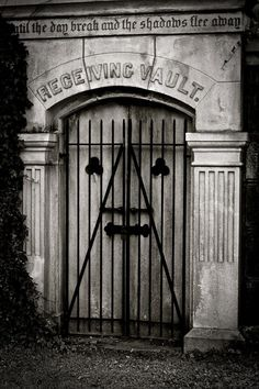 """Receiving vault in an old graveyard - """"until the day breaks and the shadows flee away"""""""