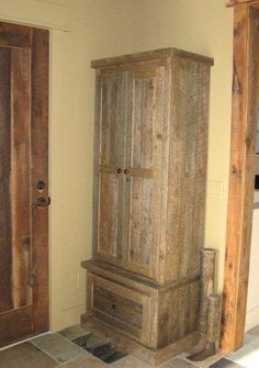 Awesome Pallet Wood Gun Cabinet Plans