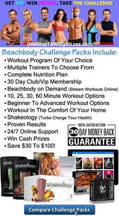 Compare Beachbody Challenge Packs!