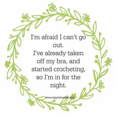 Im crocheting. ..