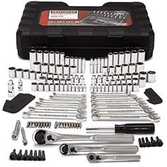 Craftsman Mechanics Tool Set Kit Wrenches Sockets Ratchet SAE Metric 165 Pc Case - Brought to you by Avarsha.com