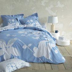 Housse de couette imprimée pur coton OMBRAGE  Bleu / gris- Vue 1