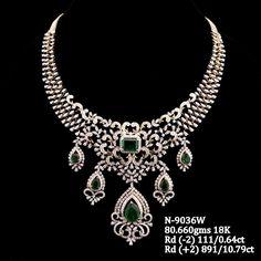 Diamond Necklace Set, Diamond Earing, Emerald Necklace, Diamond Jewellery, Emerald Diamond, Diamond Pendant, Gold Earrings Designs, Gold Jewellery Design, Necklace Designs