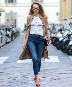 45542d164a2 A plain white tee can go a long way when styled artfully. Gucci Shirts