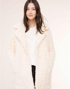 Pull&Bear - woman - coats & parkas - white faux fur coat - ice - 09752319-I2015