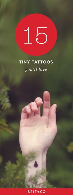 Micro tattoos are the BEST tattoos.