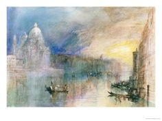 Venice: Grand Canal with Santa Maria Della Salute Impressão giclée por William Turner na AllPosters.com.br