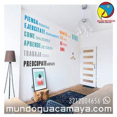 Contáctanos Whats App: 3212004656. Vinilos decorativos Frases inspiracionales ¿Quieres una para tu espacio? www.mundoguacamaya.comBogotá Colombia
