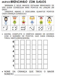 Gráfico BRINCANDO COM DADOS 1st Grade Math, Grade 1, Math For Kids, Literacy, Periodic Table, Acting, How To Plan, School, Everton