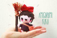 Kiki from Kiki's Delivery Service free amigurumi pattern. Hayao Miyasaki Studio Ghibli character DIY