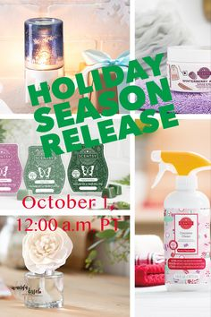 Scentsy Holiday Season release is coming! Mark your calendar! October 1, 12:00 a.m. PT!