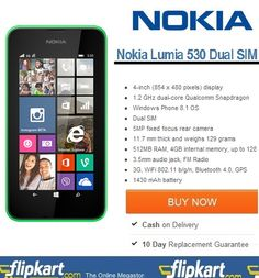 Buy Nokia Lumia 530 Dual Sim – Online Shop Lumia 530 Dual Sim at Lowest Price