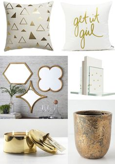 Decorating with Winter White and Gold