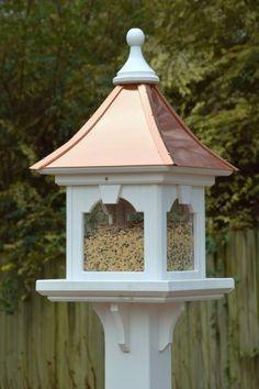 Handmade Wooden Peanut Bird Feeder Untreated Wall or Fence Mounting