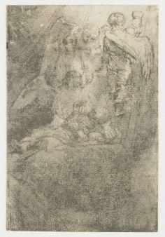 Jacobs ladder, Rembrandt Harmensz. van Rijn, 1655