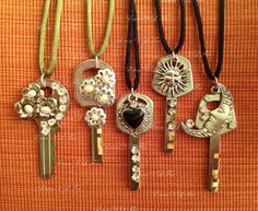 upcycled/repurposed necklace - upcycled key pendants (1)