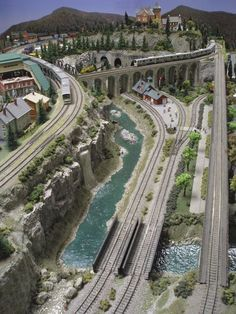 Beautiful Model Train Layout Image can find Model train layouts and more on our website. N Scale Model Trains, Model Train Layouts, N Scale Train Layout, Train Ho, Model Railway Track Plans, Ho Trains, Beautiful Models, Layout Design, Scenery