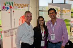 The PillJogger Team Terry Cater, Yogini Wadhawan, and Robert Pakter shares their app and cool iPhone cover pill box. Photo by Cheryl Hornbaker.