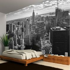 NEW YORK MANHATTAN SKYLINE WALLPAPER MURAL PHOTO GIANT WALL POSTER DECOR ART