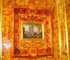 One of the 4 seasons, Amber Room at Katharine Palace, Saint Petersburg, Russia