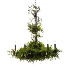 digging this forest chandelier!
