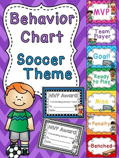 Soccer behavior chart for sports theme classroom a bunch of other fun behavior clip charts!