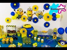 Ideas de MINIONS para fiesta//mesa de dulces SUPERMANUALIDADES - YouTube
