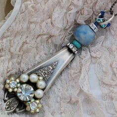 Sterling silver plated antique spoon handle by lisabetzoriginals, $59.00