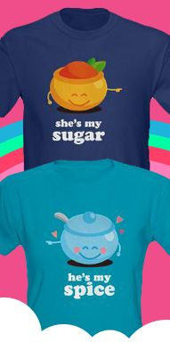 This store sells the most adorable t-shirt sets for couples!