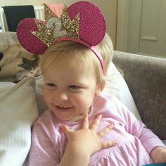 Birthday Girl Minnie mouse ears with crown
