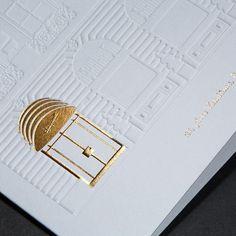 letterpress wedding invite with golden detail. Letterpress wedding invite with golden detail. Letterpress Wedding Invitations, Letterpress Printing, Wedding Stationery, Paper Design, Book Design, Brochure Design, Branding Design, Identity Branding, Visual Identity