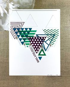 Spellbinders Cards, Stampin Up Cards, Scrapbook Cards, Scrapbooking, Hexagon Cards, Right Triangle, Masculine Cards, Stamping Up, Greeting Cards Handmade