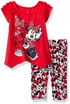 Disney Girls 2Piece Minnie Mouse Legging Set Red 18m >>> Click for Special Deals