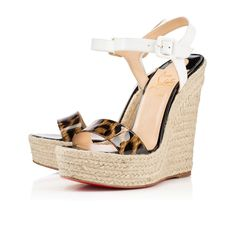 8845ad68f03 Spachica 140mm Brown Patent Leather  675 Louboutin Wedges