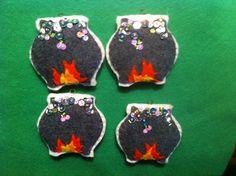Felt Witch's Cauldron ornaments