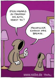 Cartoon von #Ralph #Ruthe #hwg Humor Videos, Math Anchor Charts, Cartoon Gifs, Humor Grafico, Good Humor, Just Smile, Funny Cartoons, Cartoon Network, Kids And Parenting