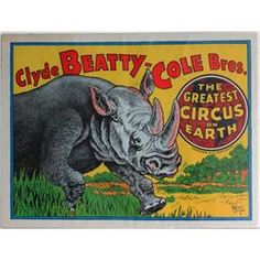 This poster was used by the Barnum & Bailey Circus to ...