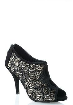 Cato Fashions Shoes Cato Fashions Peep Toe Lace