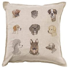 "Dogs Pillow 16""x16"""