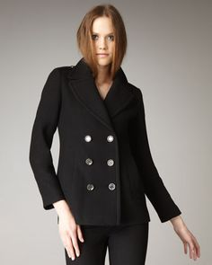 I'm in love with classic pea coat #burberry