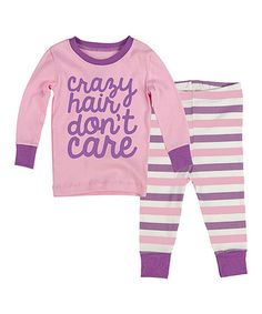 Another great find on #zulily! Pink & Purple 'Crazy Hair' Pajama Set - Infant, Toddler & Girls by Slumber Party #zulilyfinds