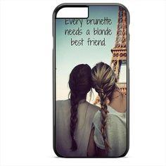 Every Brunette Needs A Blonde Bestfriend TATUM-3990 Apple Phonecase Cover For Iphone SE Case - Plastics / Black