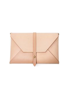 Beautiful Natural Envelope Clutch from Woodlark