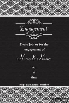 Fancy Script  Engagement Digital Printable Invitation Template