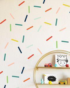 Random Colorful Sprinkles -Wall Decal #interior-decor #kids-interior-decor #kids-room